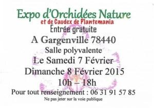 Exposition d'Orchidées Nature, Gargenville (78), février 2015