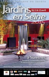 Affiche Jardins en Seine 2015