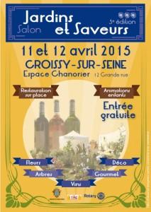 Affiche Jardins et Saveurs, Croissy-sur-Seine (78), avril 2015