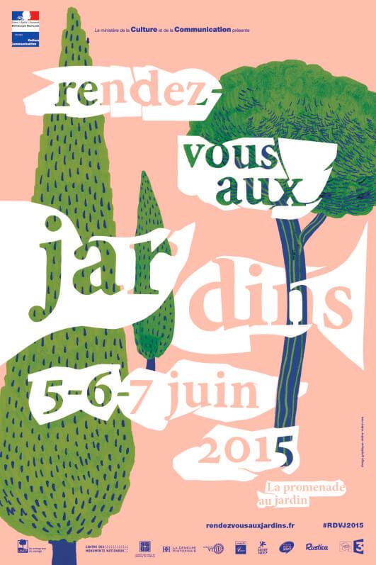 Affiche des Rendez-vous aux jardins 2015