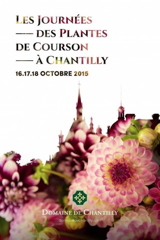 Affiche des Journées des Plantes de Courson à Chantilly, Chantilly (60), octobre 2015
