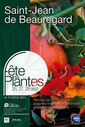Affiche de la Fête des Plantes automne, Saint-Jean de Beauregard (Essonne)