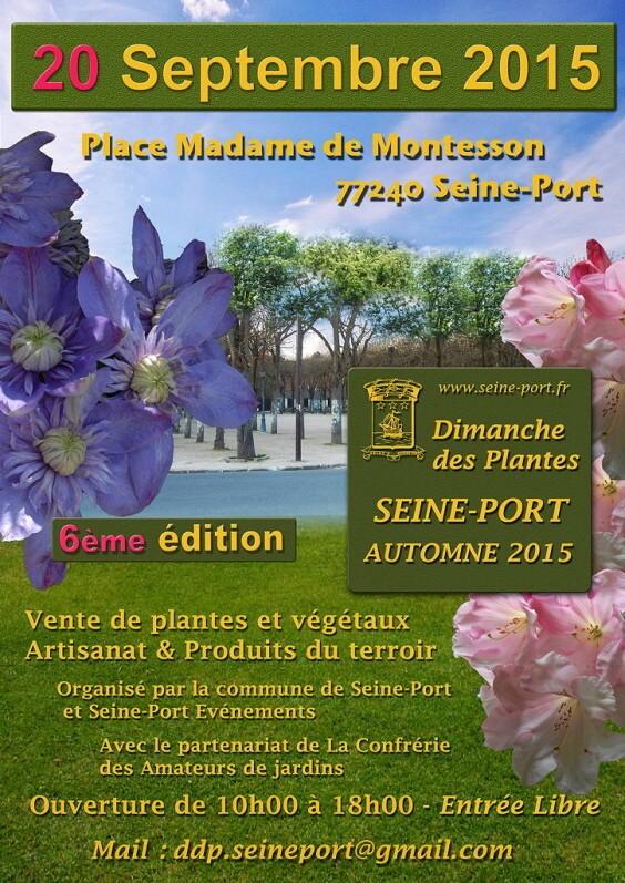Affiche du Dimanche des plantes, Seine-Port (77), 20 septembre 2015