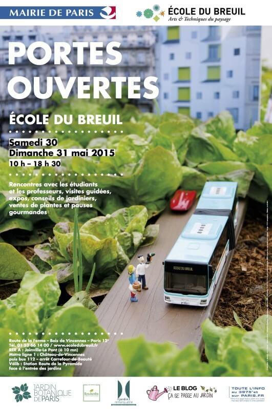 Affiche des portes ouvertes de l'École du Breuil mai 2015