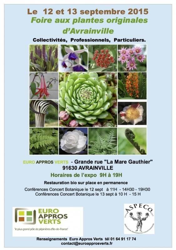 Foire aux plantes rares d'Avrainville (Essonne), septembre 2015