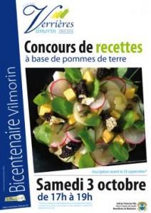Affiche Concours de recettes et marché aux pommes de terres, Verrières-le-Buisson (91), octobre 2015