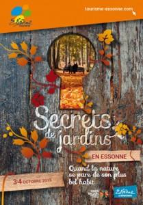 Affiche des Secrets de Jardins en Essonne, automne 2015