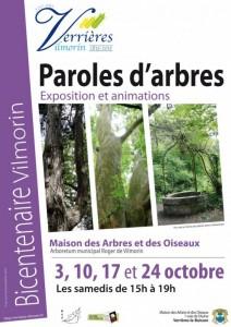 Exposition Paroles d'arbres et animations, Verrières-le-Buisson (91), octobre 2015