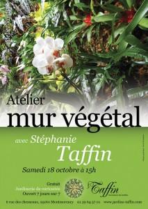 Atelier mur végétal, Jardinerie Taffin, Montmorency (95), octobre 2015