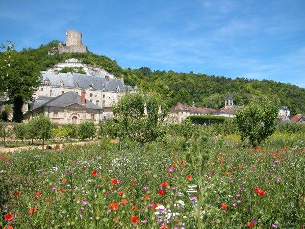 Potager verger du château de la Roche-Guyon, Val d'Oise