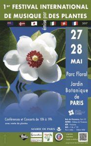Affiche du 1er Festival International de Musique des Plantes, Parc floral, Paris (75), mai 2017
