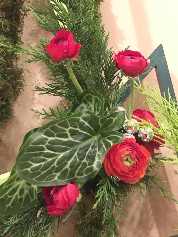 Entre deux verts, art floral, exposition Mille et un sapins, SNHF, Paris 7e (75)