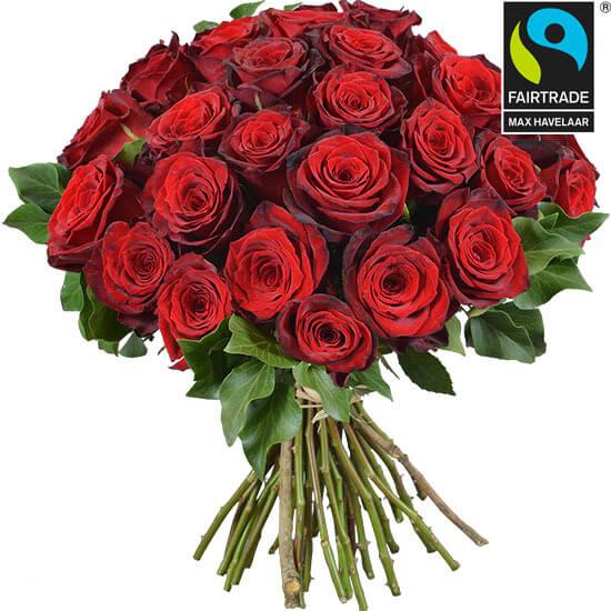Gros bouquet de roses rouges Aquarelle, Saint-Valentin 2018