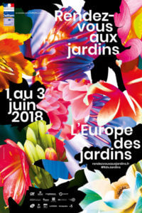 Affiche des Rendez-vous aux Jardins 2018, création Chevalvert