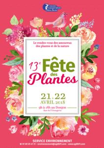 Affiche de la 13e Fête des Plantes de Sainte-Geneviève-des-Bois (91), 21 et 22 avril 2018