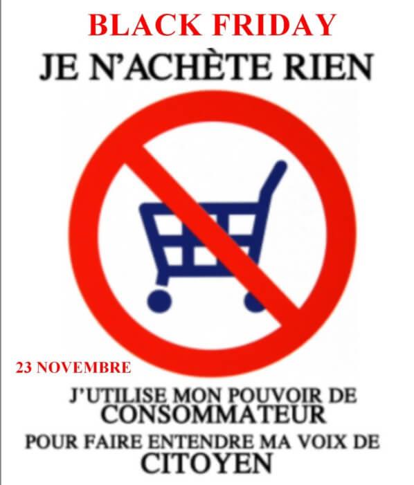 Je n'achète rien, 23 novembre 2018, Black Friday, pouvoir de consommateur, voix de citoyen