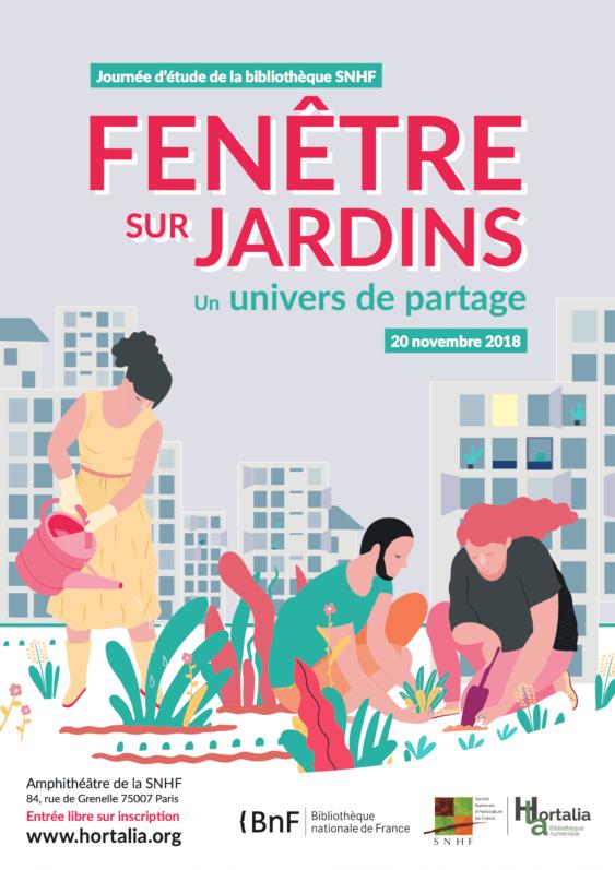 """""""Fenêtre sur jardins, un univers de partage"""", journée d'étude de la bibliothèque de la SNHF"""