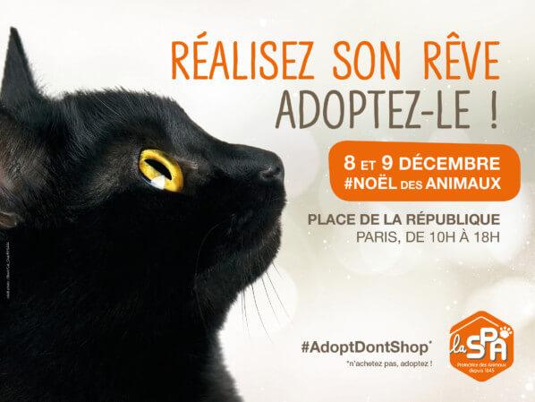 Le Noël des animaux de la SPA, Paris, décembre 2018