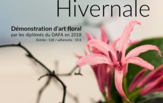 Affiche, Poésie hivernale, démonstration d'art floral, SNHF, Paris, janvier 2019