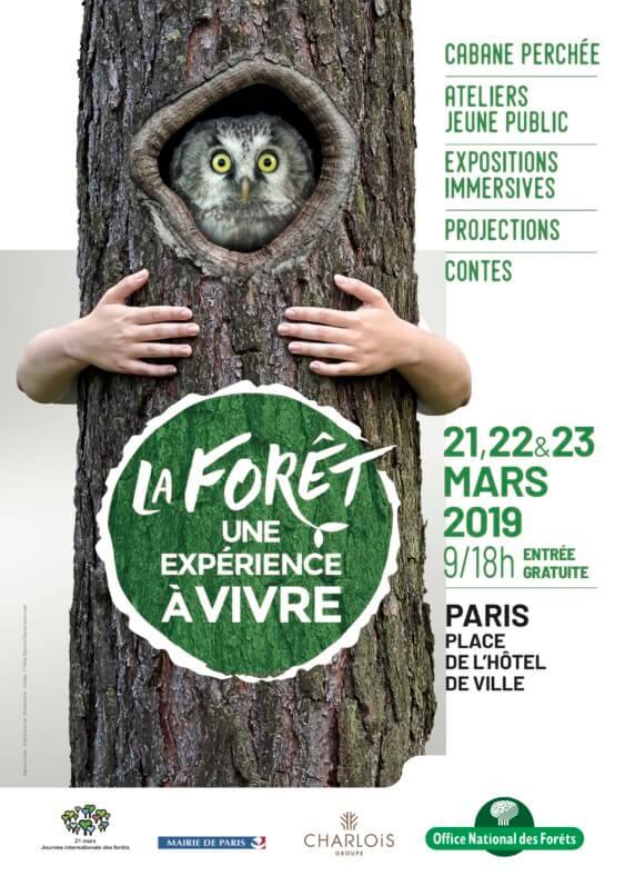La forêt, une expérience à vivre, ONF, Paris, 21, 22 et 23 mars 2019