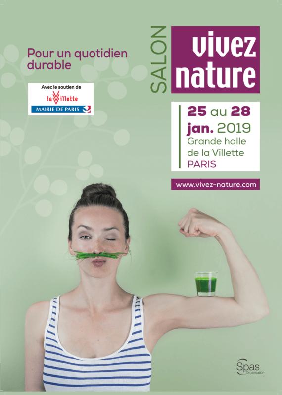 Salon Vivez Nature Paris, Grande Halle de la Villette, Paris 19e (75), janvier 2019