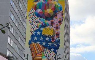 11 Mirages to Freedom, Okuda San Miguel, fresque, street art, Paris 13e (75)