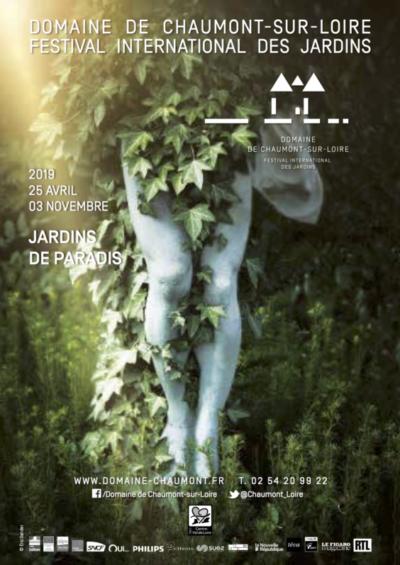 Affiche du Festival International des Jardins de Chaumont-sur-Loire '41), avril à novembre 2019