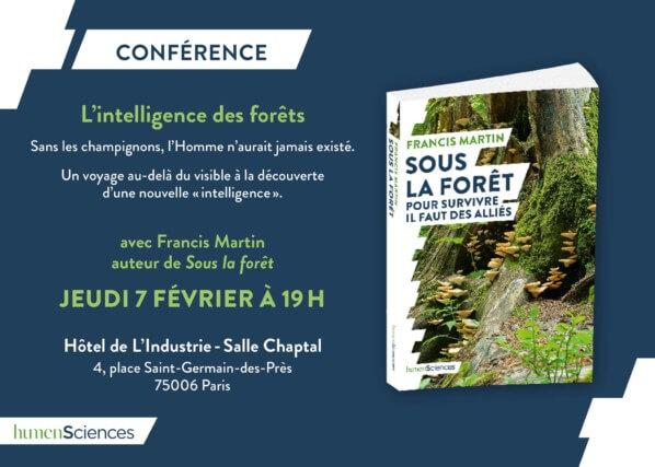 """Conférence """"L'intelligence des forêts"""", Paris 6e (75), février 2019"""