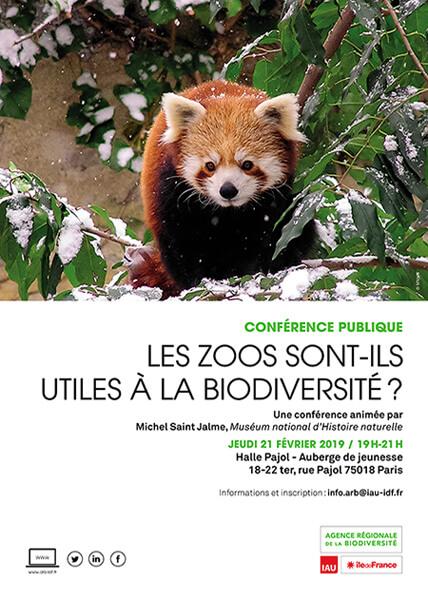 Conférence publique : Les zoos sont-ils utiles à la biodiversité ? ARB Île-de-France, février 2019