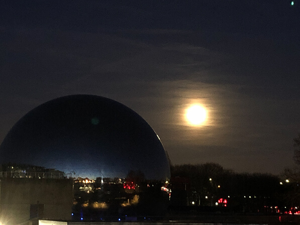 Super pleine lune, Paris 19e (75)