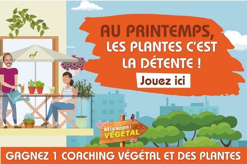 Bannière du jeu Mission Végétal, printemps 2019