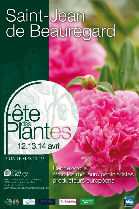 Affiche de la Fête des Plantes de Printemps de Saint-Jean de Beauregard, Essonne, avril 2019
