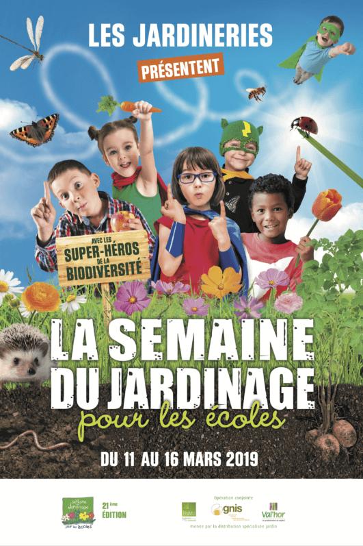 Affiche de la Semaine du Jardinage pour les écoles, mars 2019, GNIS
