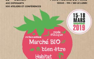 Affiche du Salon Vivre Autrement, parc floral, Paris 12e (75), mars 2019