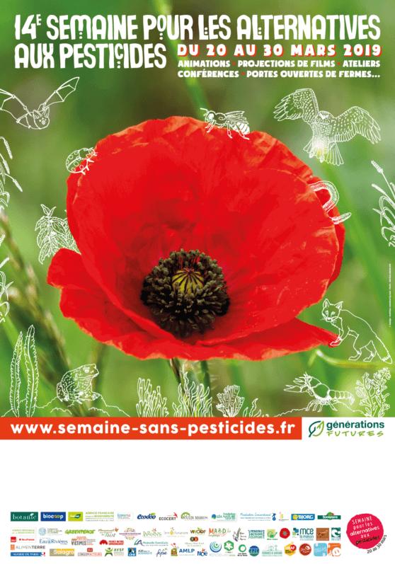 Affiche de la SPAP, Semaine pour les alternatives aux pesticides, mars 2019