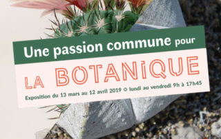Affiche de l'exposition «Charles Lemaire et Edouard Maubert, une passion commune pour la botanique», SNHF, mars et avril 2019