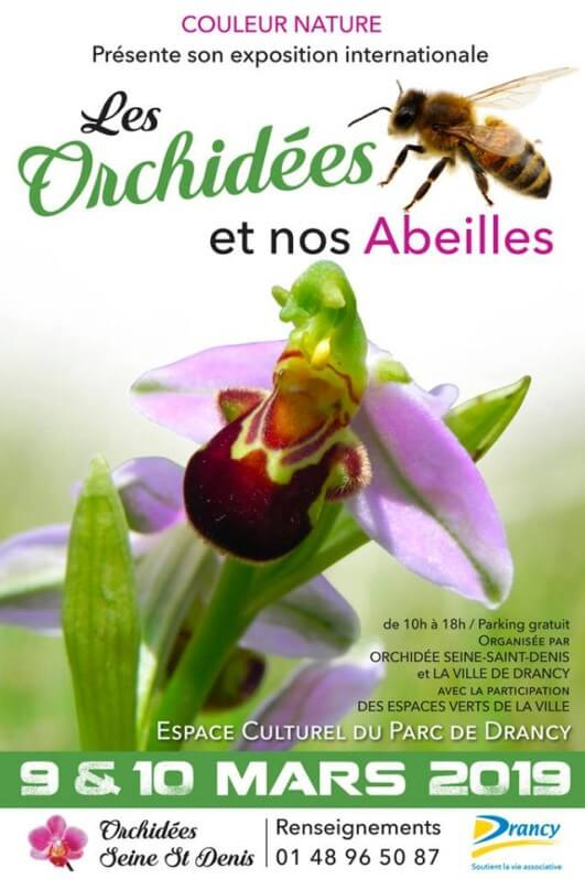 """Exposition internationale """"Les orchidées et nos abeilles"""", Drancy (93), mars 2019"""
