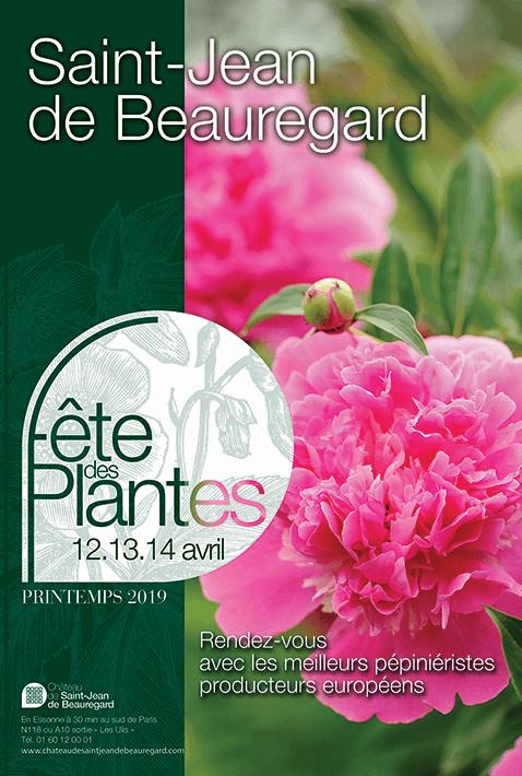 Affiche de la Fête des Plantes de Printemps, château de Saint-Jean de Beauregard, les 12, 13 et 14 avril 2019