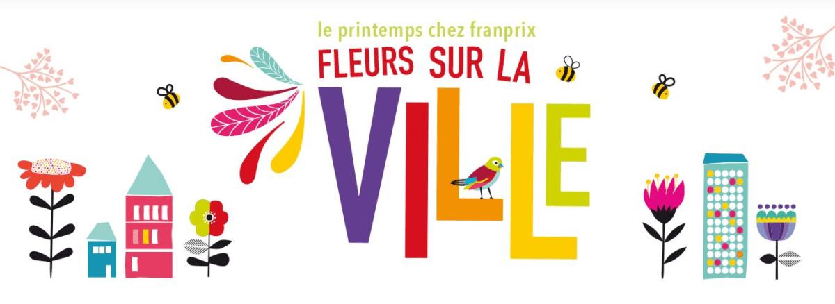 """Opération """"Fleurs sur la ville"""", Franprix, printemps 2019"""