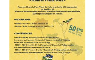 """Journée """"Plantes & Stratégies"""" le 27 avril 2019 au Parc floral de Paris"""