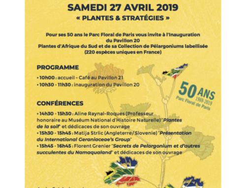 Journée «Plantes & Stratégies» le 27 avril 2019 au Parc floral de Paris