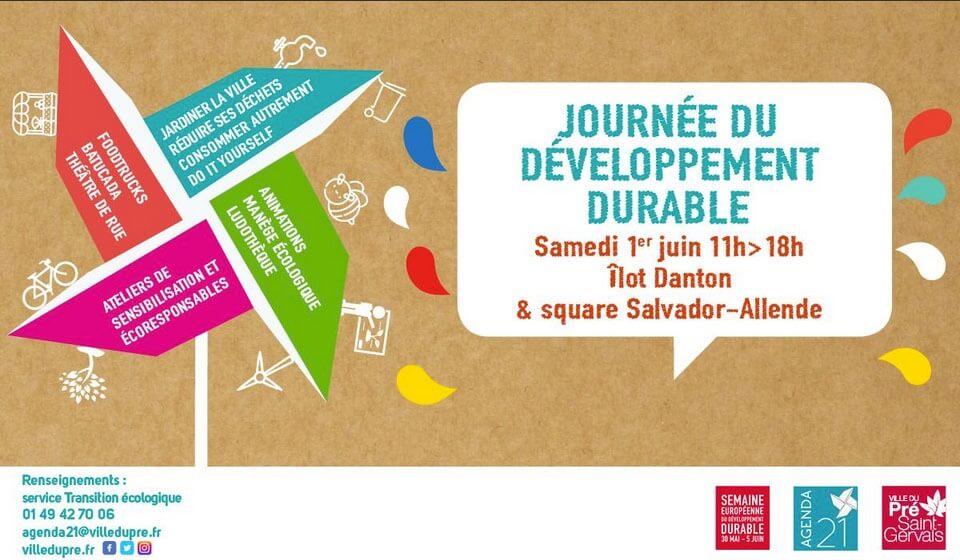Affiche de la Journée du développement durable, Le Pré Saint-Gervais (93), 1er juin 2019