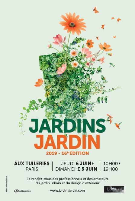 Du 6 au 9 juin 2019, 16ème édition de Jardins Jardin, Paris (75)