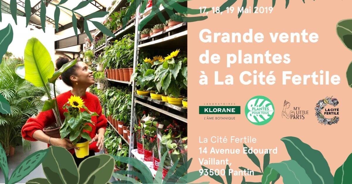 Grande vente de plantes, Plantes pour tous, La Cité Fertile, Pantin, mai 2019