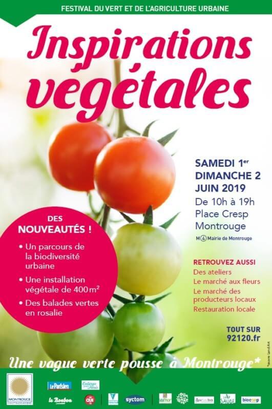 Affiche Inspirations Végétales, Montrouge (92), juin 2019