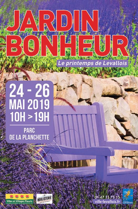 Affiche Jardin Bonheur, le printemps de Levallois, mai 2019