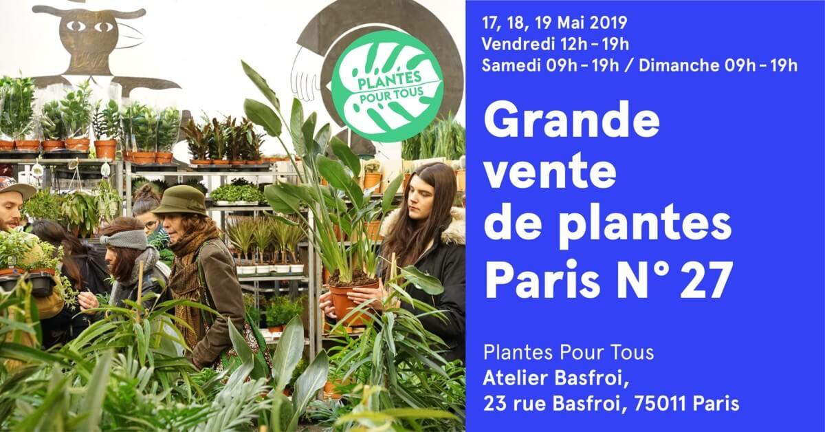 Grande vente de plantes, Plantes pour tous, Paris 11e (75), mai 2019