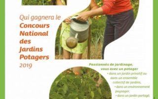 Affiche du Concours National des Jardins Potagers 2019