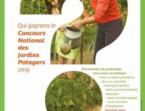 Inscription au  Concours National des Jardins Potagers 2019