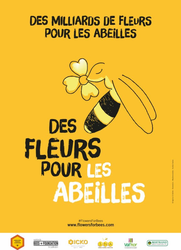 Affiche de la troisième édition de la Semaine des fleurs pour les abeilles, du 14 au 23 juin 2019